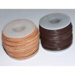 Lederband (Ziege) 1mm, 25 Meter auf Rolle, natur oder braun