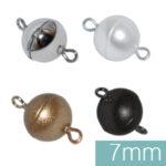 Magnetverschluß Muggel 7mm, verschiedene Farben