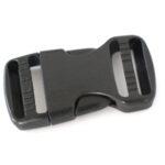 Steckverschluss, 70x38mm, schwarz