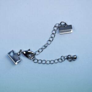 Flachkappelverschluss silberfarbig, 10mm