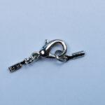 Lederbandverschluss, 1mm, silber oder gold