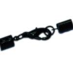 Lederbandverschluss, 3mm, silber, schwarz oder gold