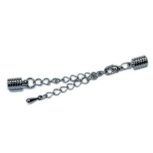 Kappelverschluss gerillt, 4mm, silber oder gold