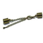Kappelverschluss gerillt, 8mm, silber oder gold