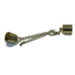 Kappelverschluss gerillt, 10mm, silber oder gold