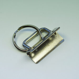 Klemme mit Ring 32mm, silberfarbig