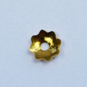 Perlkappe 4mm, 10 St., silber oder gold