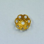 Perlkappe 5mm, 10 St., silber oder gold
