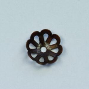 Perlkappe 6mm, 10 St., antik kupfer oder silber