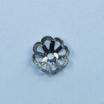 Perlkappe 9mm, 10 St., antik kupfer, gold oder silber