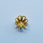 Perlkappe 10mm, 10 St., goldfarbig