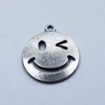 Anhänger Smile 23mm antiksilber