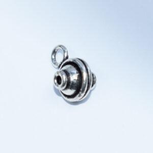 Anhänger 10mm  925er Silber antik
