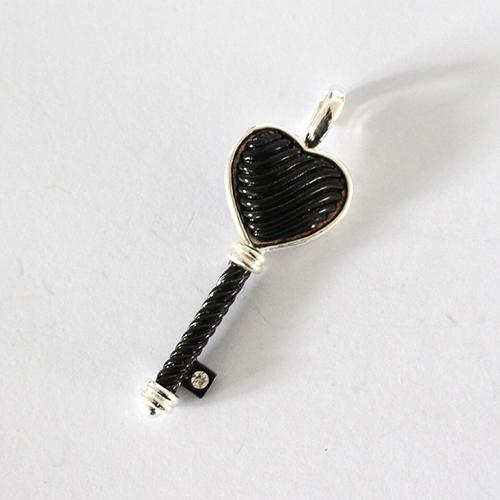 Kettenanhänger Schlüssel 40mm silber