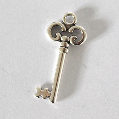 Anhänger Schlüssel 25mm antiksilber