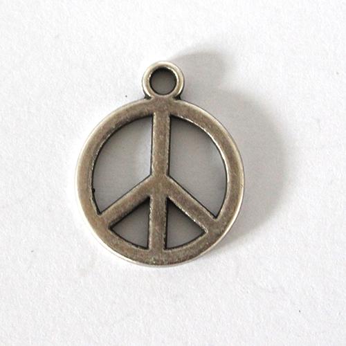 Anhänger Peace 20mm antiksilber