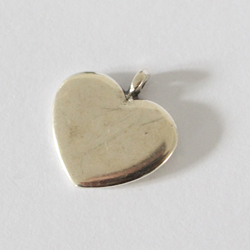 Anhänger Herz 16mm antiksilber