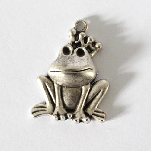 Anhänger Frosch 30mm antiksilber