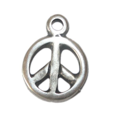 Anhänger Peace 16mm antiksilber