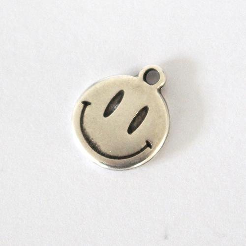 Anhänger Smile 15mm antiksilber