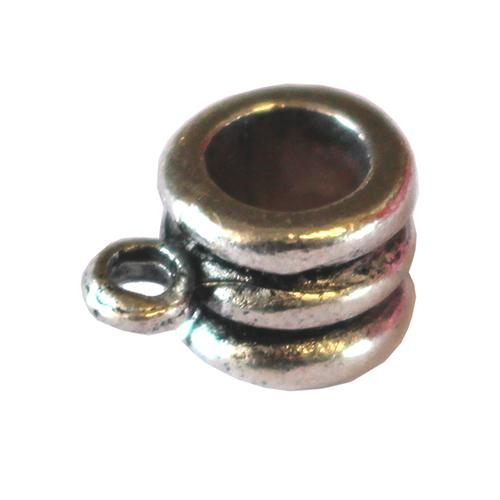 Anhänger Ring gerillt antiksilber