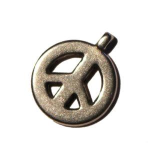 Anhänger Peace 15mm  antiksilber