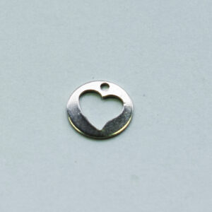 Anhänger Herz 7mm silberfarbig