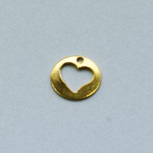 Anhänger Herz 7mm goldfarbig