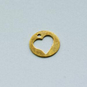 Anhänger Herz 10mm goldfarbig