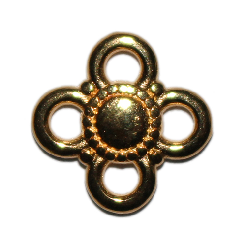 Anhänger Blume 9mm goldfarbig