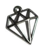Anhänger Diamant 16x17mm antiksilber