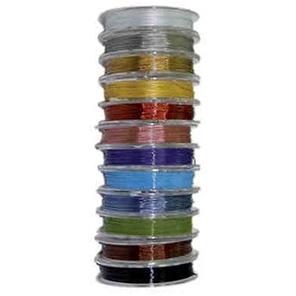 Fädeldraht mit Nylonmantel, 0.4mm, 5 Meter auf Rolle, verschiedene Farben