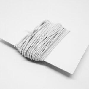 Kordel elastisch, 5m/1mm, weiß