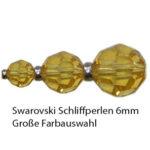 Swarovski Schliffperlen rund, 6mm, 12 St., verschiedene Farben