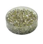 Rocailles mit Silbereinzug, 2.0mm rund, 15g im Döschen, verschiedene Farben