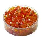 Rocailles Mischungen, 2.6mm-6mm Glasperlen-Mix, 17g im Döschen, verschiedene Farben