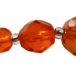 Glasschliffperlen, 6mm, 50 St., verschiedene Farben