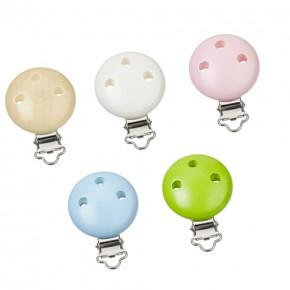 Kettenclip rund, Clip Schnullerkette 37mm, verschiedene Farben (schweiss- und speichelfest)