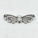 Schmetterling, 20mm, silberfarben