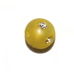 Strassperle Polaris, 14mm mit Großloch (5.1mm), verschiedene Farben