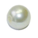 Wachsperlen, 4mm, 100 St./1200 St., weiß oder perlmutt