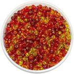 Rocailles Glasperlen-Mix mit Silbereinzug, 2.6mm, 17g im Döschen, verschiedene Farben