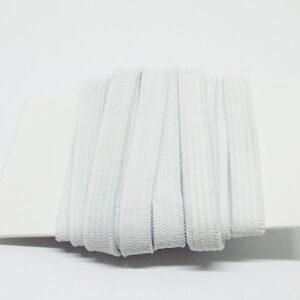 Einziehgummi flach, 7mm, 2 Meter, weiß oder schwarz