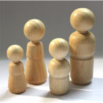 Fingerpuppe aus Holz, Mädchen – Junge – Mann – Frau, 4 Größen