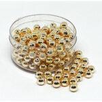 Wachsperlen, 2mm, 800 St. in großer Dose, gold oder silber