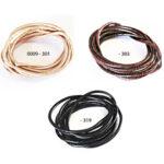 Lederband (Rind) 3mm, 2St., verschiedene Farben