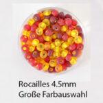 Rocailles mit Silbereinzug, 4.5mm Glasperlen-Mix, 17g im Döschen, verschiedene Farben