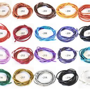 Lederband (Rind) 2mm, verschiedene Farben (5 St./10 St.)