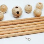 Mobilestern aus Holz, verschiedene Größen (4x100mm/6x150mm)