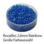 Rocailles Glasperlen Rainbow, 2.6mm rund, 17g im Döschen, verschiedene Farben